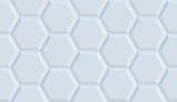 Wall 3d white ceramic tiles hexagon. High quality seamless 3d illustration