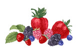 Hand drawn background with berries - 250407598