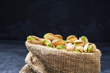 Pistachios  in a bag close-up. Organic food.  healty food © Igor Dudchak