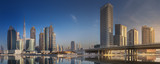 Cityscape of Dubai and panoramic view of Business bay, UAE
