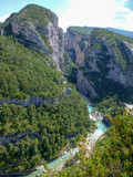 View on scenery Grand canyon du Verdon in Provence, France