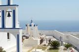 Greek island church with little bells