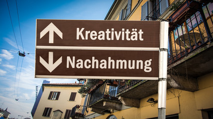 Schild 384 - Kreativität © Thomas Reimer