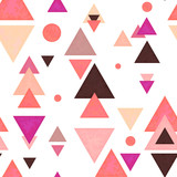 Seamless Pattern of Triangles in Watercolor Style