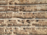 Background of old brickwork. The background of the old brick wall.