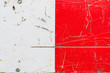 Quadro Grunge red and white metal surface texture