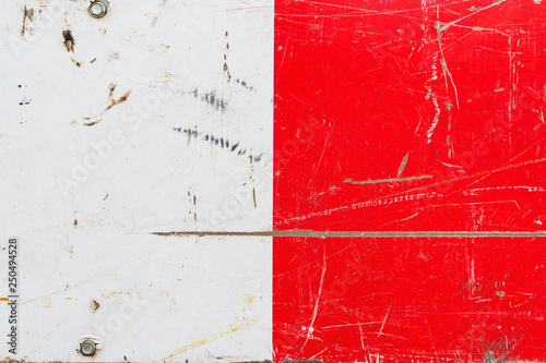Grunge red and white metal surface texture © Bits and Splits
