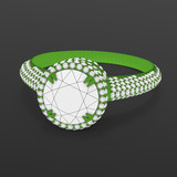 Wireframe material 3d jewelry model of engagement ring. 3D rendering
