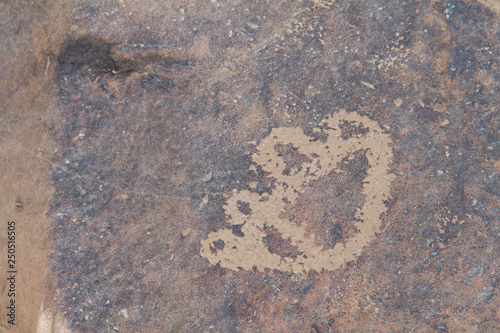 archaeological and graffiti on stones in a town called afif is a city in central Saudi Arabia