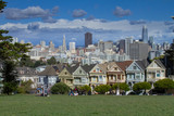 Painted Ladies San Francisco. City Views on a Clear Day.