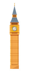 Traditional clock tower of the Westminster Palace meeting, Big Ben. © Idey