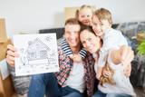 Bild als Symbol für Eigenheim und Hauskauf
