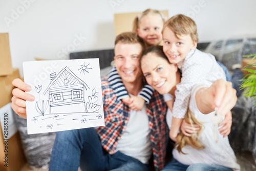 Leinwandbild Motiv Bild als Symbol für Eigenheim und Hauskauf