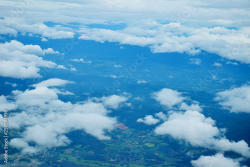Sky cloud for background look on a plane - 250594998