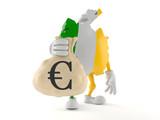 Ireland character holding money bag