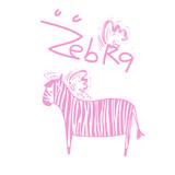 Zebra with  pink strip