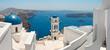 Leinwandbild Motiv Eglise à  Santorin