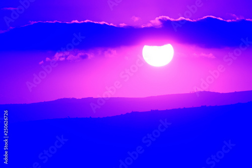 obraz PCV Purple sunset
