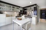 Interior de casa cozinha