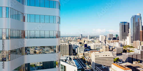 Neue Hochhaus Fassade in Downtown Los Angeles