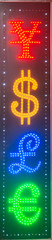 Money Change Sign. Multi currency neon signage © jovannig