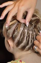 confection de coiffure d'enfant