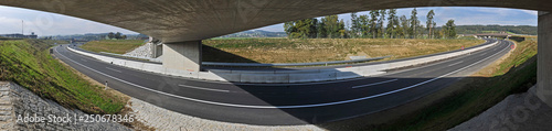 empty highway in austria - 250678346
