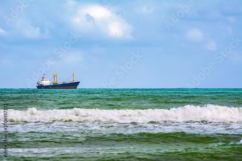 Dry cargo ship in the Sea © Sergej Razvodovskij