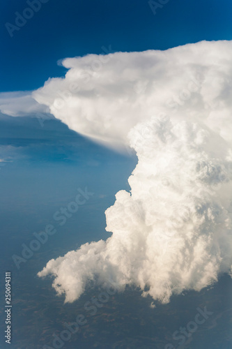 white clouds seen from flying aircraft - 250694311
