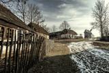 Fototapeta Nature - Rural farms in Tokarnia Open-air museum. Wiejskie zagrody w Muzeum Wsi Kieleckiej w Tokarni. © Mariusz