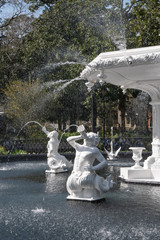 Close up of Forsyth Park fountain in Savannah Georgia