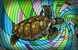 Turtle Stained Glass Style