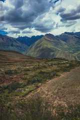 landscape in the mountains under clouds in sacred valley peru © Ben