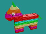 Piñata low poly