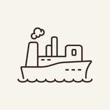 Comfortable ship line icon