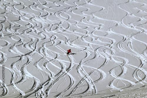 obraz lub plakat Ski alpin