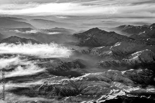 obraz lub plakat Monochrom Zagros Gebirge