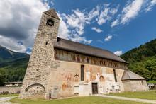 """Постер, картина, фотообои """"Pinzolo - San Vigilio Church with the Macabre Dance"""""""