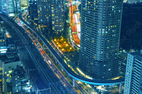 obraz lub plakat 【東京の夜景】世界貿易センタービル展望台から見える大門・浜松町