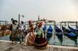 Leinwandbild Motiv Photo View in Venice City During the Carnival Holiday