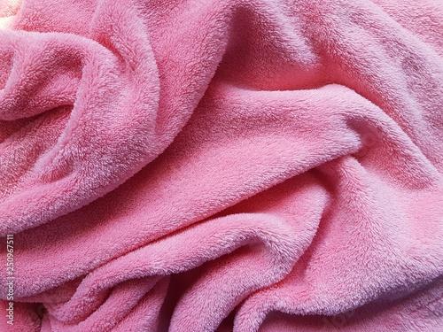 Pink soft fleece texture.  - 250967511