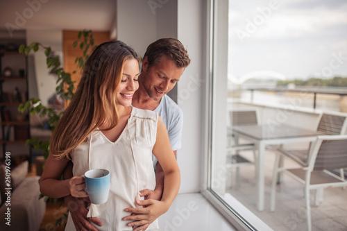 Couple enjoying in coffee - 250976398