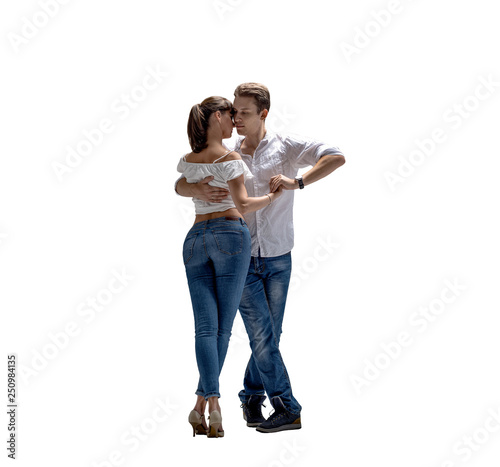 couple dancing social danse - 250984135