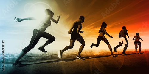 Sports Abstract Background - 250988337