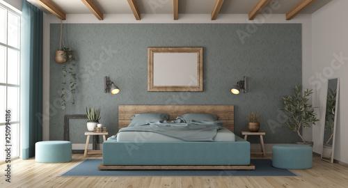 Master bedroom in retro style