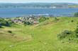 Leinwandbild Motiv Landschaft auf dem Mönchgut der Insel Rügen mit Blick auf Gager
