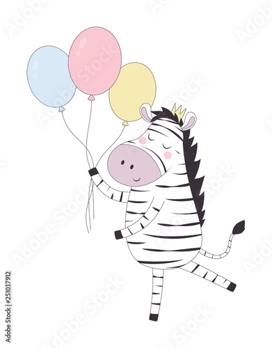 greeting card with zebra - 251037912