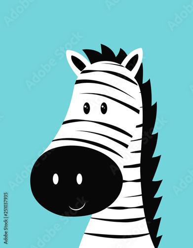 zebra head card - 251037935