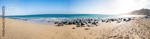 Panorama of the sandy beach on the Canary Islands - 251060721