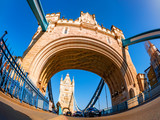 Famous architecture of Tower Bridge in London in a daytime. England
